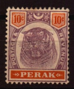 Malaya - Perak Scott  53 Unused Hinged No gum and soiling