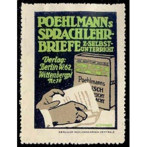 POEHLMANNs SPRACHLEHR-BRIEFE Advertising Poster Stamp (#1)