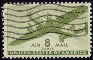 USA - 1941 - Scott #C26 - used - Airplane
