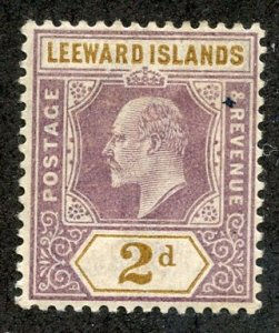 Leeward Isl, Scott #22 Unused, Hinged