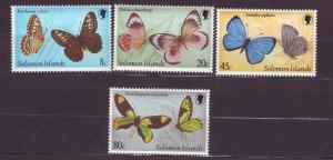 J23745 JLstamps 1980 solomon islands set mlh #431-4 butterflies
