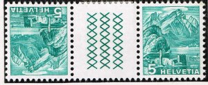 Switzerland Stamp tête-bêche gutter pair SELVAGE H/STAMPS MNH LOT #B-1