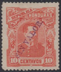 HONDURAS 1891 BOGRAN Sc 54 PERF PROOF ISSUED COLOR SIN VALOR HS HINGED MINT