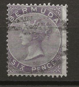 Berumda 6 Used Fine 1865 GCV £75 (jr)