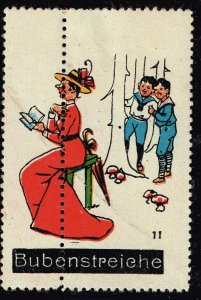 GERMANY A. Kremmling ADS WAFFLE STAMP COLLECTION LOT MISPERF ERROR #1