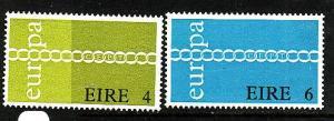 Ireland-Sc#305-6-unused NH set-Europa-1971-