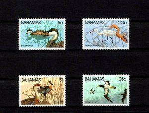 BAHAMAS - 1981 - BIRDS - DUCKS - REDDISH EGRET -TREE DUCKS + 4 X MINT - MNH SET!