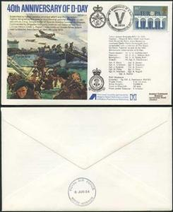 AC10aA 40th Ann of D-Day Election Standard Cover