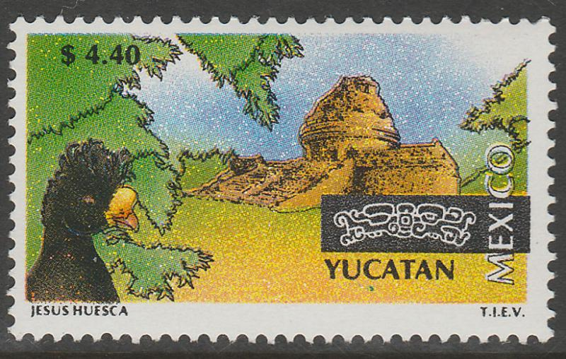 MEXICO 1974 $4.40 Tourism Yucatan, bird, archeology. Mint, Never Hinged F-VF.