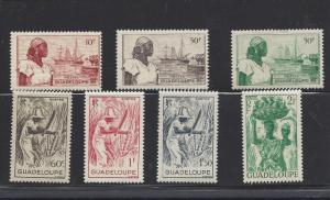 Guadeloupe, 189-95, Women Singles, Hinged