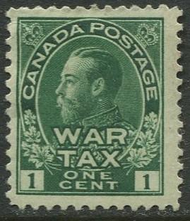 Canada - Scott MR1 - War Tax Issue - 1915 - MH - Single 1c stamp