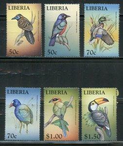 LIBERIA BIRDS SET  MINT NH
