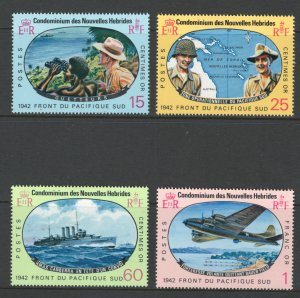 French New Hebrides 1967 South Pacific Campaign Scott # 139 - 142 MH