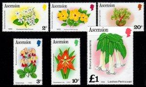 ASCENSION - 1981 - FLOWERS - LADYS PETTICOAT - EUPHORBIA ++ 6 X MNH SINGLES!