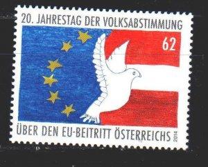 Austria. 2014. 3145. EU plebiscite. MNH.