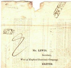 GB Cover Dorset Insurance *FROME VANCHURCH* Rev'd Fine No 5 Receiver 1831 59.2