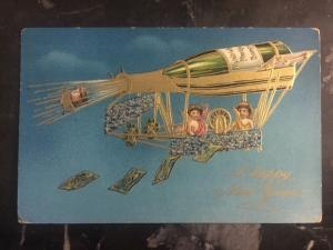 1909 Baltimore USA Picture Postcard Cover To  Cedarburg Wi Happy New Year