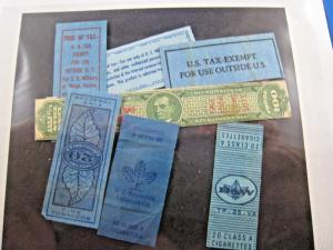 U.S. TAX STAMPS - LOT OF 7