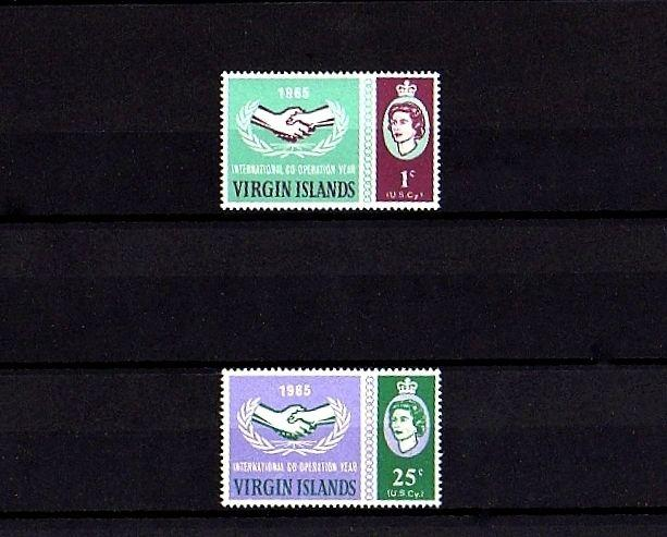 VIRGIN ISLANDS - 1965 - QE II - ICY - COOPERATION YEAR - MINT - MNH SET!