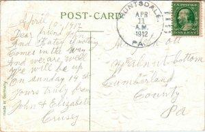 1912 Huntsdale PA DPO Card - L27246