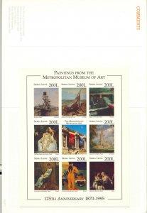 Sierra Leone #1869 Art, Ships, Cathedral 1v M/S of 8 Chromalin Proof in Folder