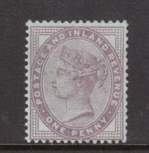 Great Britain #89d Mint Lilac On Bluish Paper **With Certificate**
