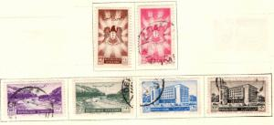 Syria Scott 358-363 mixed maint and used set 1950-51 issue