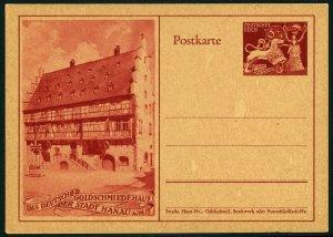 GERMANY National Goldsmiths Institution 10th Anniv. Postal Stationery Card HANAU