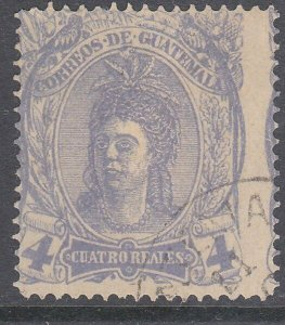 GUATEMALA  An old forgery of a classic stamp................................C932