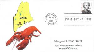 Margaret Chase Smith FDC   #3 of 3 cachets