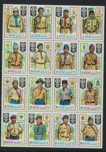 1971 Manama Boy Scout World Jamboree block 16