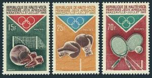 Burkina Faso 141-143,MNH.Michel 167-169. African Games 1965.Soccer,Boxing,Tennis