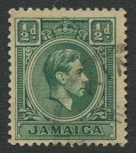 Jamaica -Scott 116 - KGVI Definitive -1938 - Used - Single 1/2p Stamp