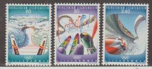 Liechtenstein Scott #1016-1017-1018 Stamps - Mint NH Set