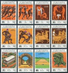 Surinam 675-686,MNH.Michel 1082-1093. Olympics Los Angeles-1984.Greek Art.