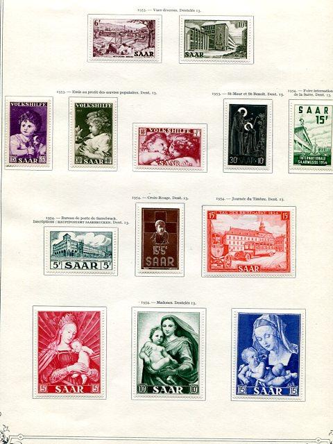 Saar collection Mint VF 11 pages - Lakeshore Philatelics