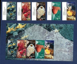 ROSS DEPENDENCY - L145-L149, L149a - VFMNH set & 2 S/S - Ocean Life -