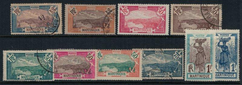 Martinique #74-5,8-80,4,6,90,3-4  CV $8,75