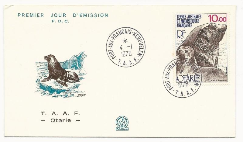 FRENCH ANTARCTIC TERRITORY Scott #C48 on First Day Cover 1978