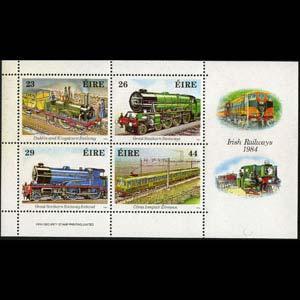 IRELAND 1984 - Scott# 584a S/S Locomotives NH