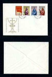 Vaduz Church # 416-9 FDC Cacheted and Unaddressed dated 12-6-1966
