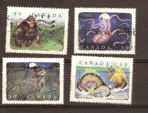 CANADA SET OF CANADIAN FOLKLORE (4) USED STAMPS  LOT#11