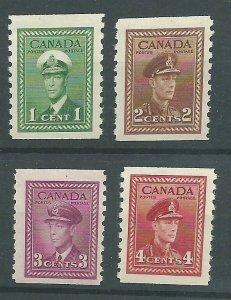 C  #278-281   Mint NH VF  1948  PD