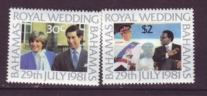 J24189 JLstamps 1981 bahamas set mlh #490-1 royality