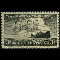 U.S.A. 1948 - Scott# 956 Four Chaplains Set of 1 Used