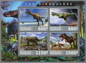 Gabon S/S Used Dinosaur #2 2017