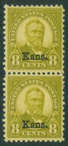 EDW1949SELL : USA 1929 Scott #666 Beautiful XF MNH pair of Key Value Cat $290+
