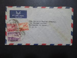 Iraq 1953 Commercial Cover to USA (V) - Z8607