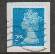 GB QE II Machin SG U2963 - 2nd brt blue -  M13L - Source  T