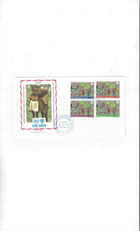 Haiti FDC International Year of the Child 1979 Official Cachet